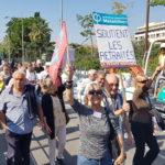Manifestation des retraités à Nice