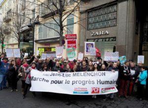 Manifestation pour le progrès humain