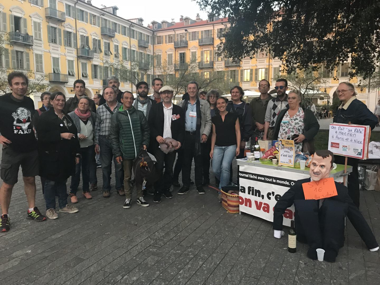 Préparation de la «Fête à Macron» à Nice