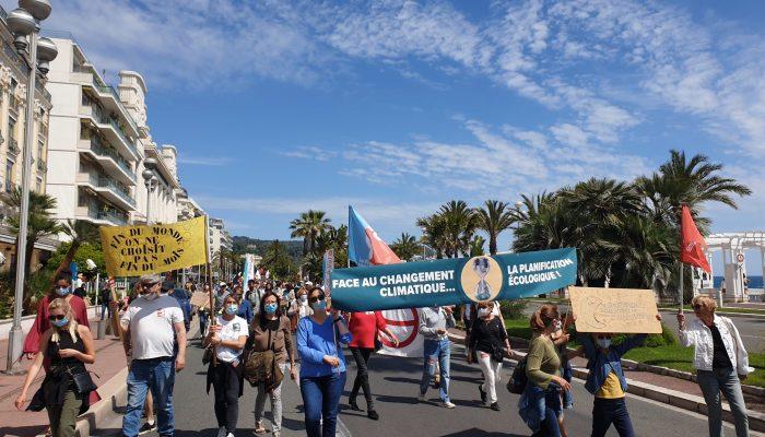 Les insoumis.e.s du 06 à la #Marche pour le climat à #Nice 09 mai 2021