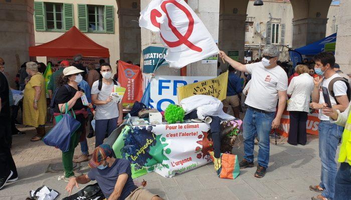 Stand FI06 en marge de la #Marche pour le climat à #Nice 09 mai 2021